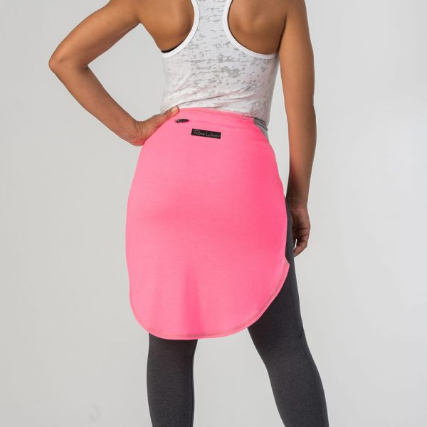 HOT PINK NEON BODY / HEATHER GREY SLEEVES (TALL)